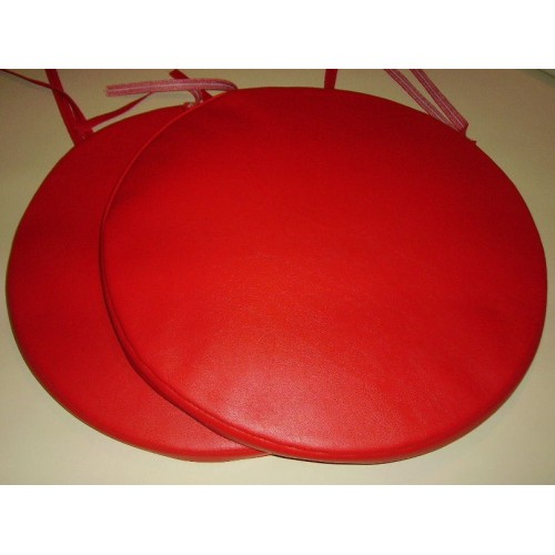 2 Bistro Round Dining Garden Chair Stool Cushion Seat Pads