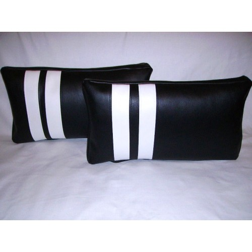 2 Faux Leather Cushions Pillows in Black with 2 White  : pillow20black20white 500x500 from www.sewgoodshop.co.uk size 500 x 500 jpeg 33kB